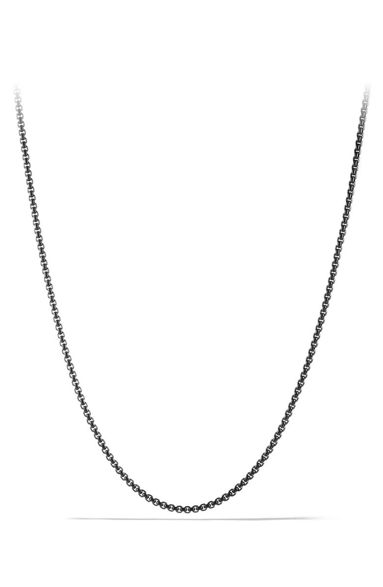 DAVID YURMAN 'Chain' Small Box Chain Necklace, Main, color, STAINLESS STEEL