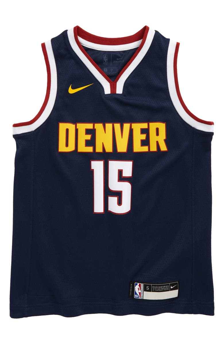 NIKE Kids' Dri-FIT NBA Denver Nuggets Nikola Jokic Basketball Jersey, Main, color, COLLEGE NAVY