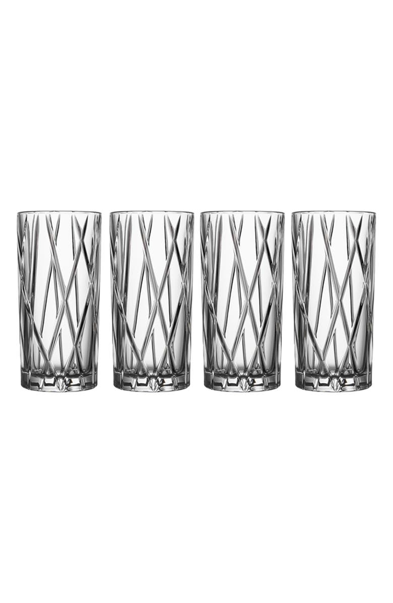 ORREFORS City Set of 4 Crystal Highball Glasses, Main, color, 100