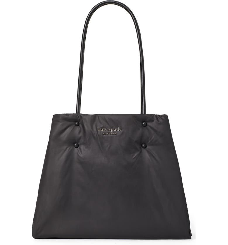 KATE SPADE NEW YORK large everything puffy tote, Main, color, 001