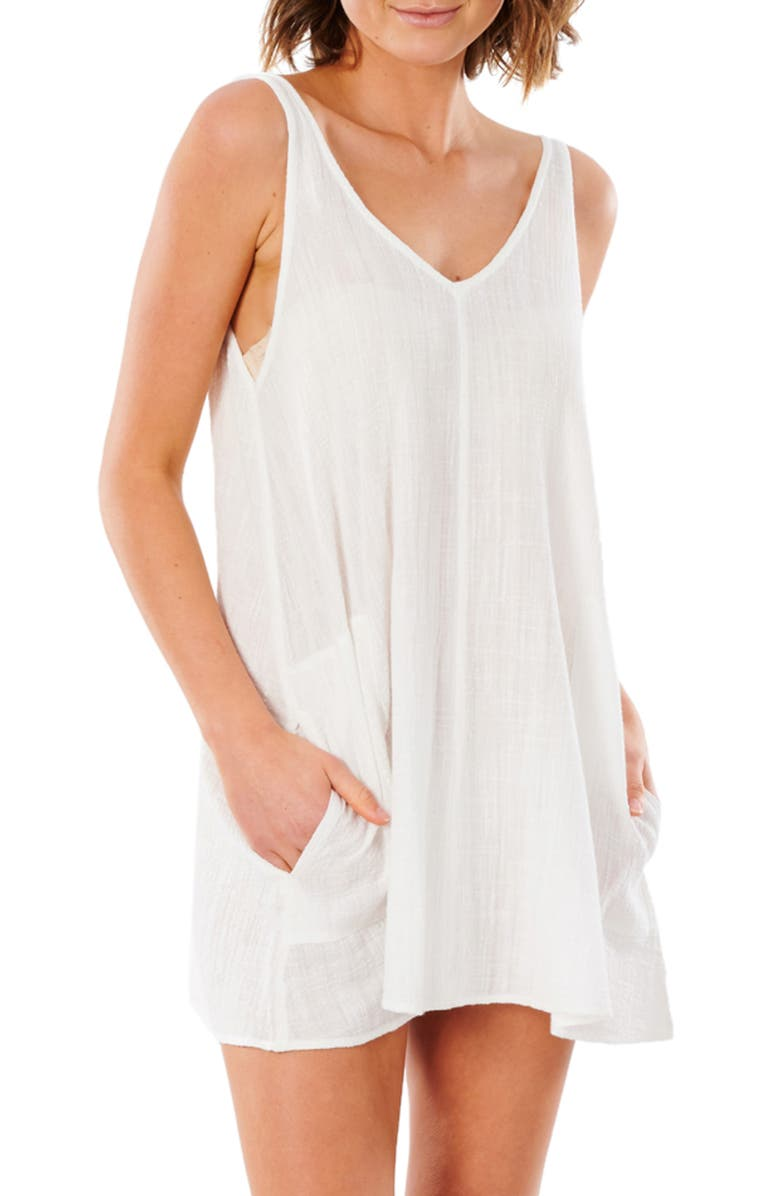 RIP CURL Classic Surf Cover Up Dress, Main, color, BONE