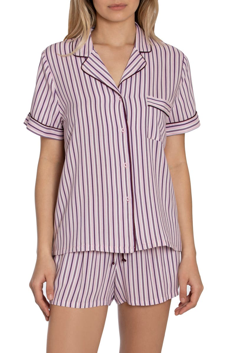 IN BLOOM BY JONQUIL Beautiful Dreamer Stripe Short Pajamas, Main, color, PINK
