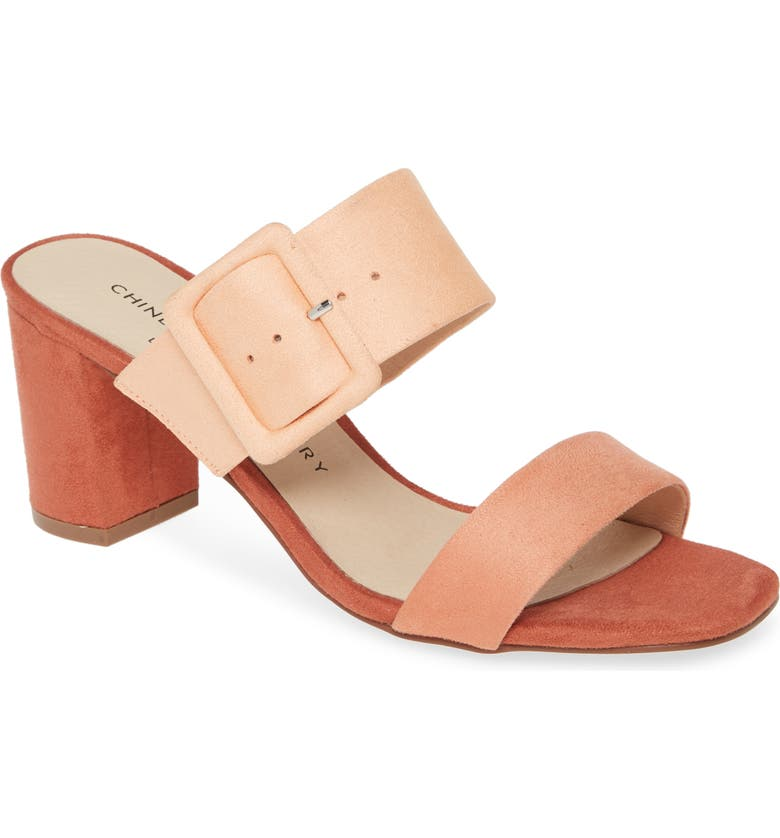 CHINESE LAUNDRY Yippy Block Heel Sandal, Main, color, SHERBET SUEDE