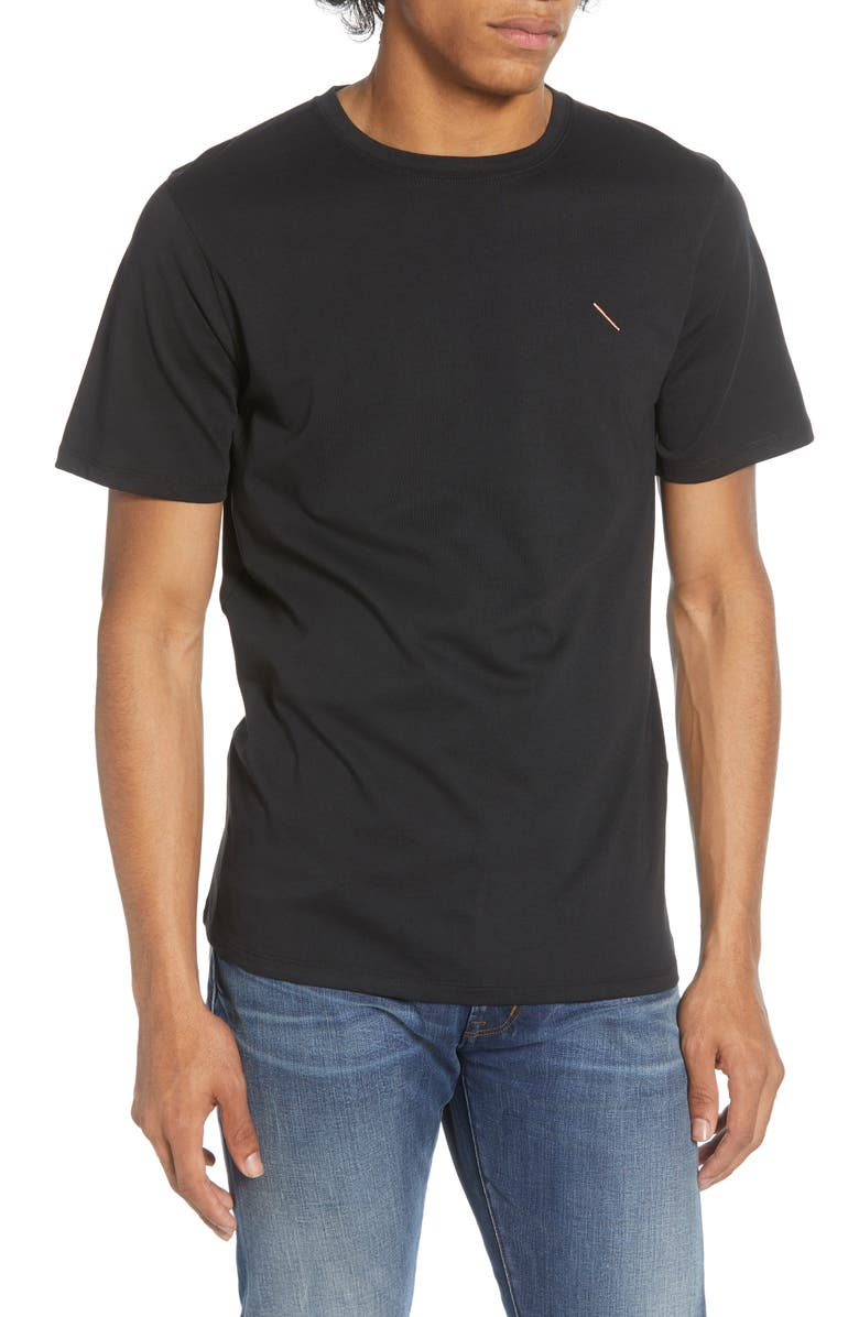 SATURDAYS NYC Embroidered Slash T-Shirt, Main, color, 001
