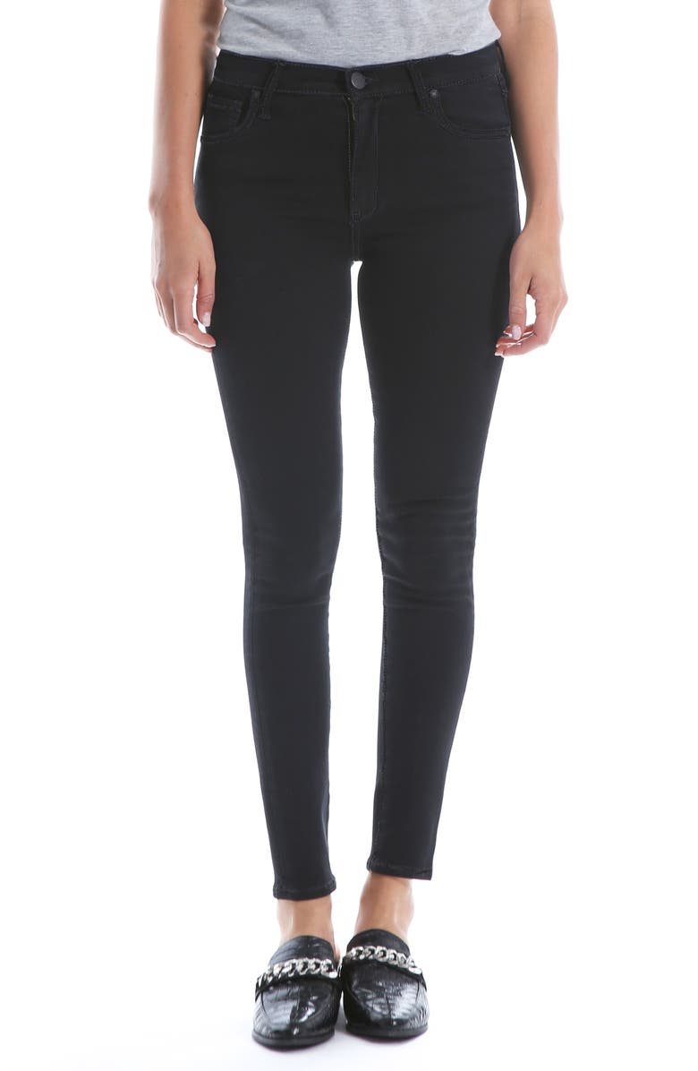 KUT FROM THE KLOTH Mia High Waist Super Skinny Jeans, Main, color, BLACK