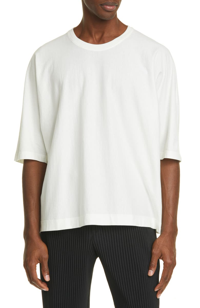 HOMME PLISSÉ ISSEY MIYAKE Release T-Shirt, Main, color, WHITE
