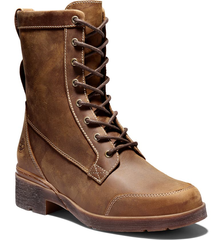 TIMBERLAND Graceyn Waterproof Lace-Up Boot, Main, color, RUST LEATHER