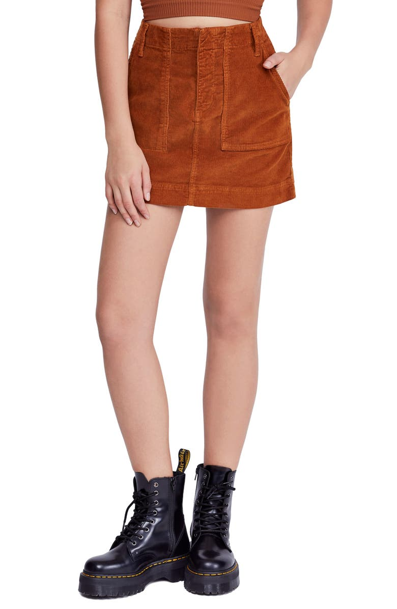 BDG URBAN OUTFITTERS Corduroy Utility Skirt, Main, color, 200