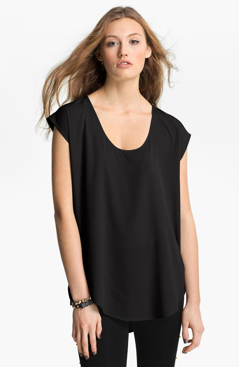 FRENCHI <sup>®</sup> Oversize Woven Tee, Main, color, 001
