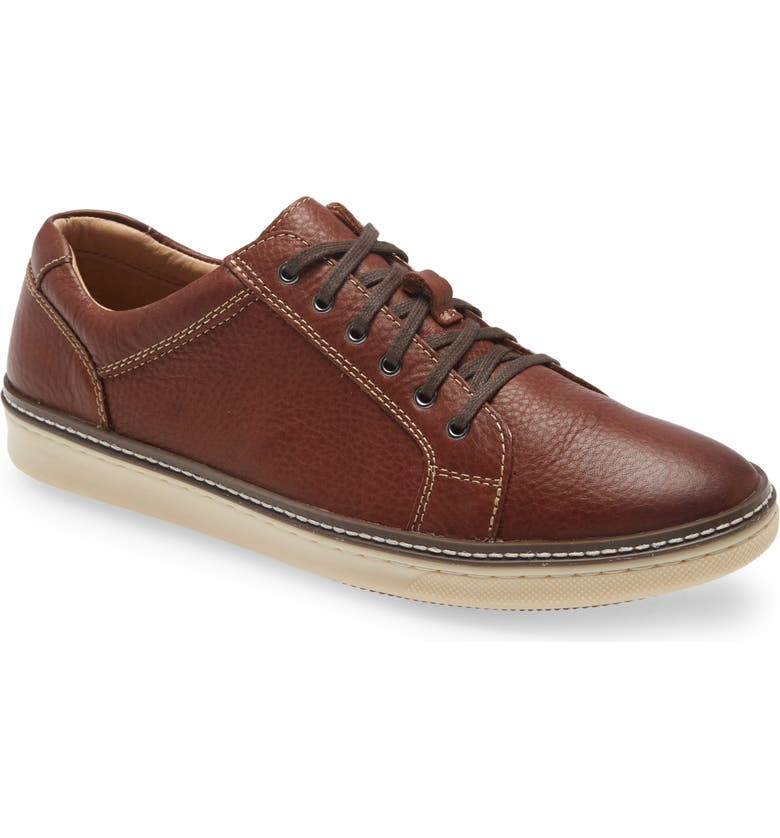 JOHNSTON & MURPHY McGuffey Lace-to-Toe Derby, Main, color, Dark Brown