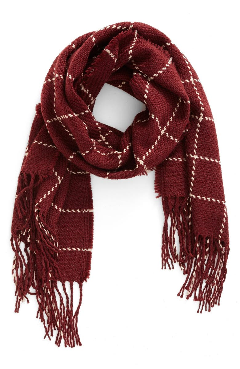 BP. Stitched Grid Scarf, Main, color, 930