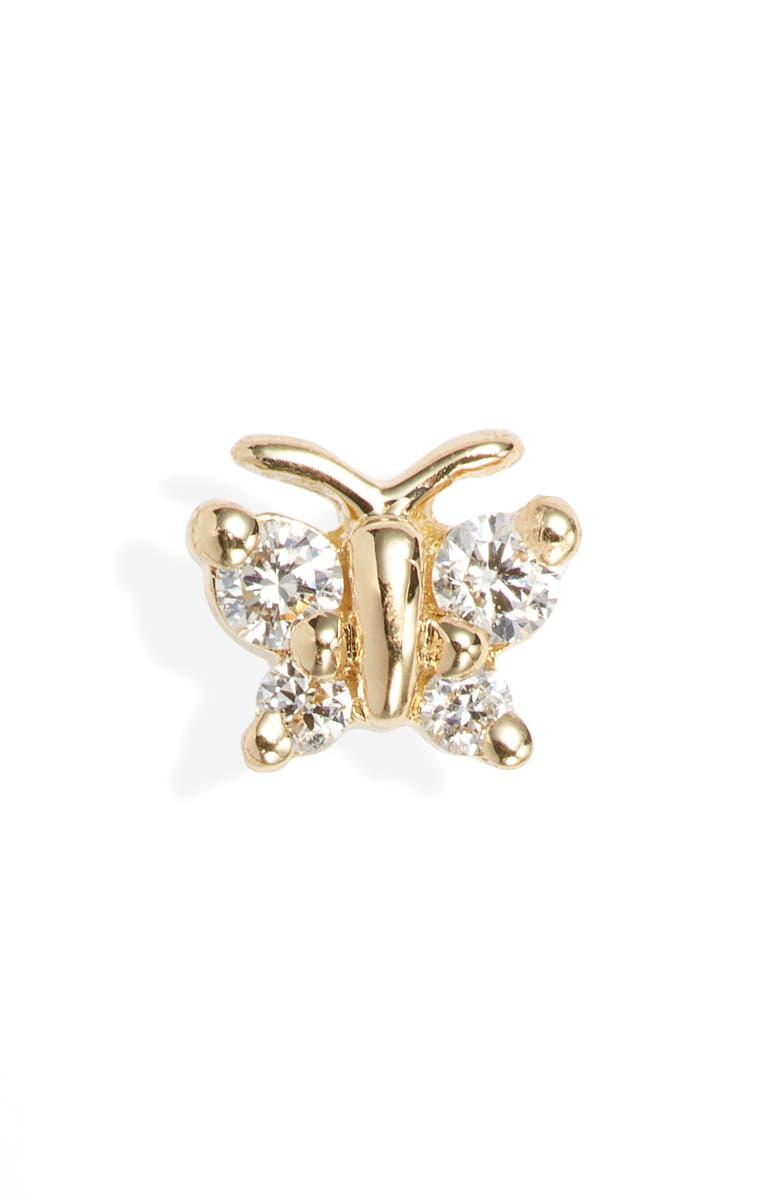 MARIA TASH Diamond Butterfly Stud Earring, Main, color, 710