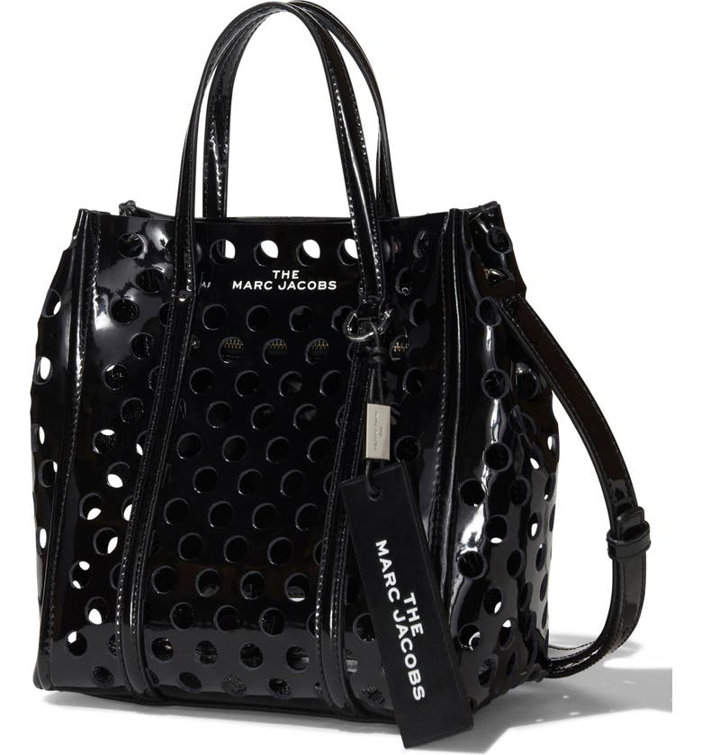 THE MARC JACOBS The Tag 21 Perforated Leather Tote, Main, color, 014
