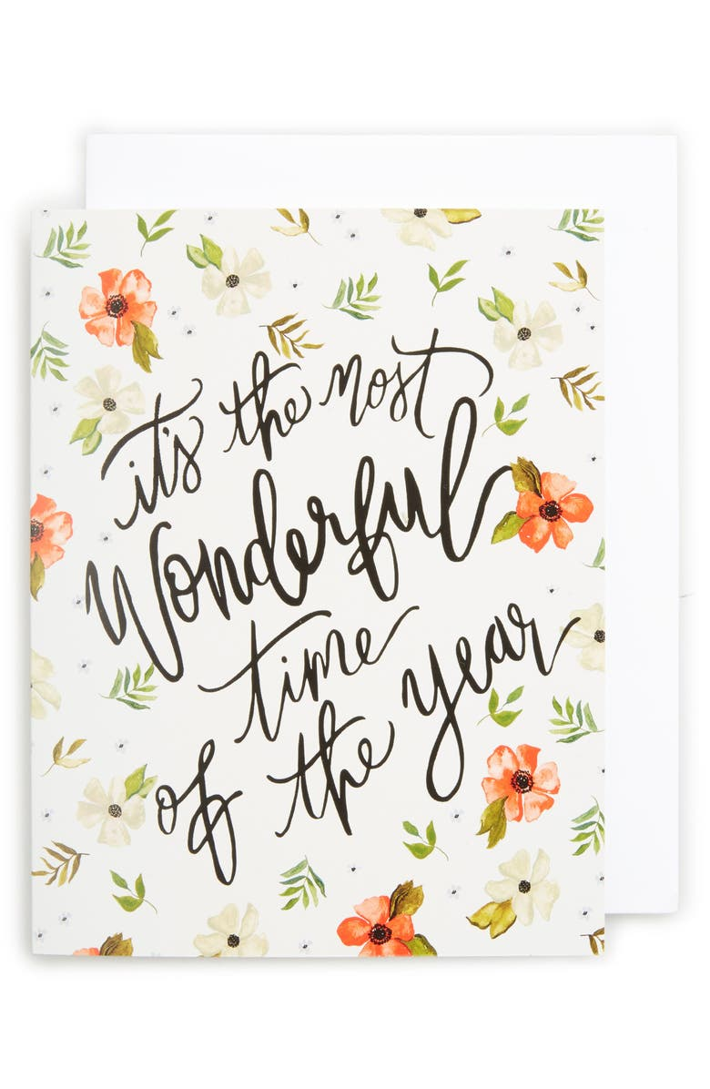 SHANNON KIRSTEN Set of 8 Most Wonderful Time Of The Year Greeting Cards, Main, color, 300