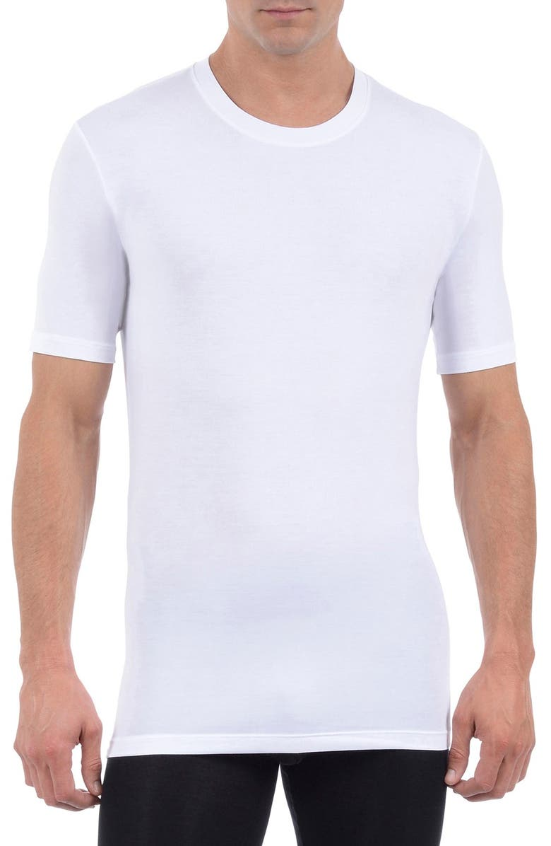 TOMMY JOHN Cool Cotton Crewneck Undershirt, Main, color, WHITE