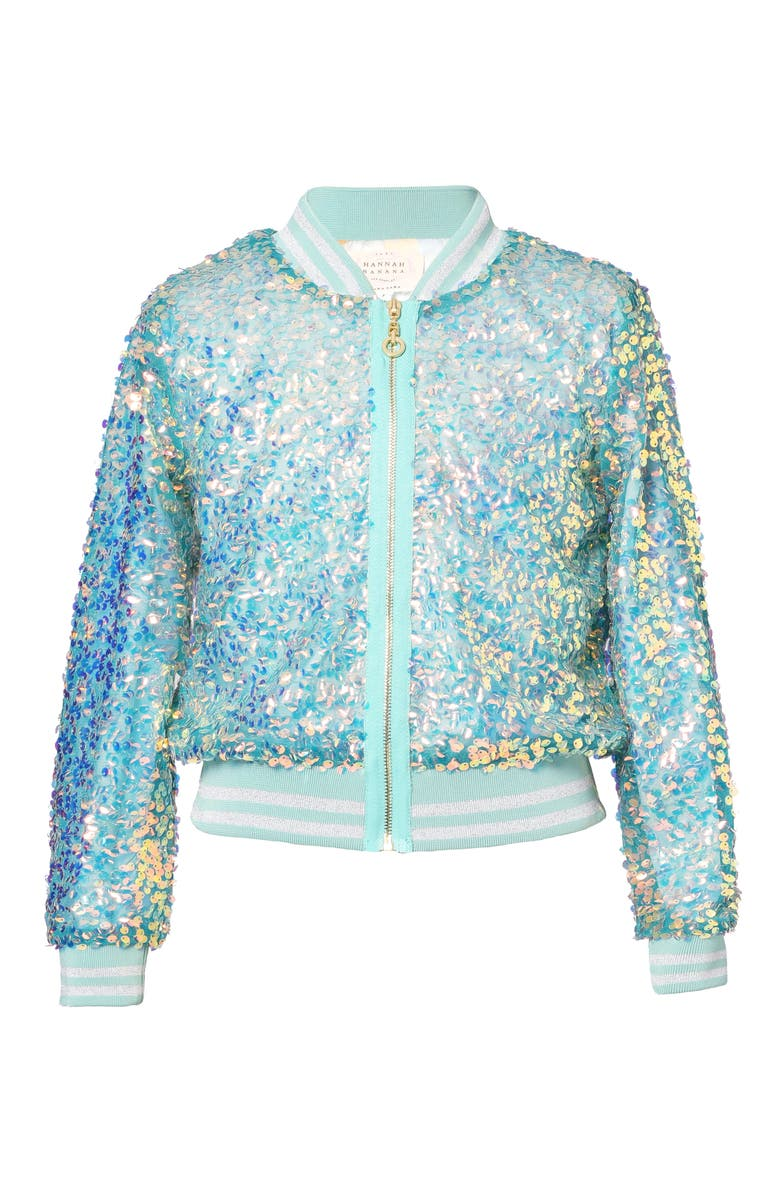TRULY ME Kids' Sequin Bomber Jacket, Main, color, 300