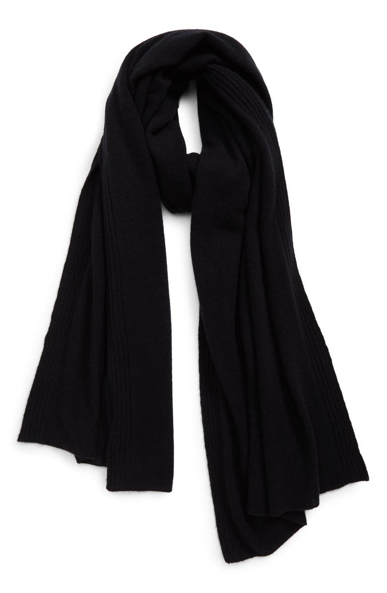 HALOGEN<SUP>®</SUP> Cashmere Scarf, Main, color, Black
