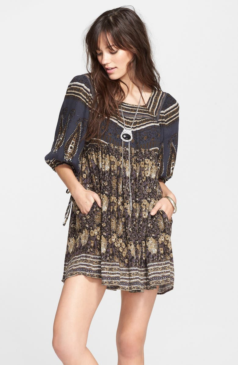 FREE PEOPLE 'Snap Out of It' Print Dress, Main, color, NIGHT COMBO