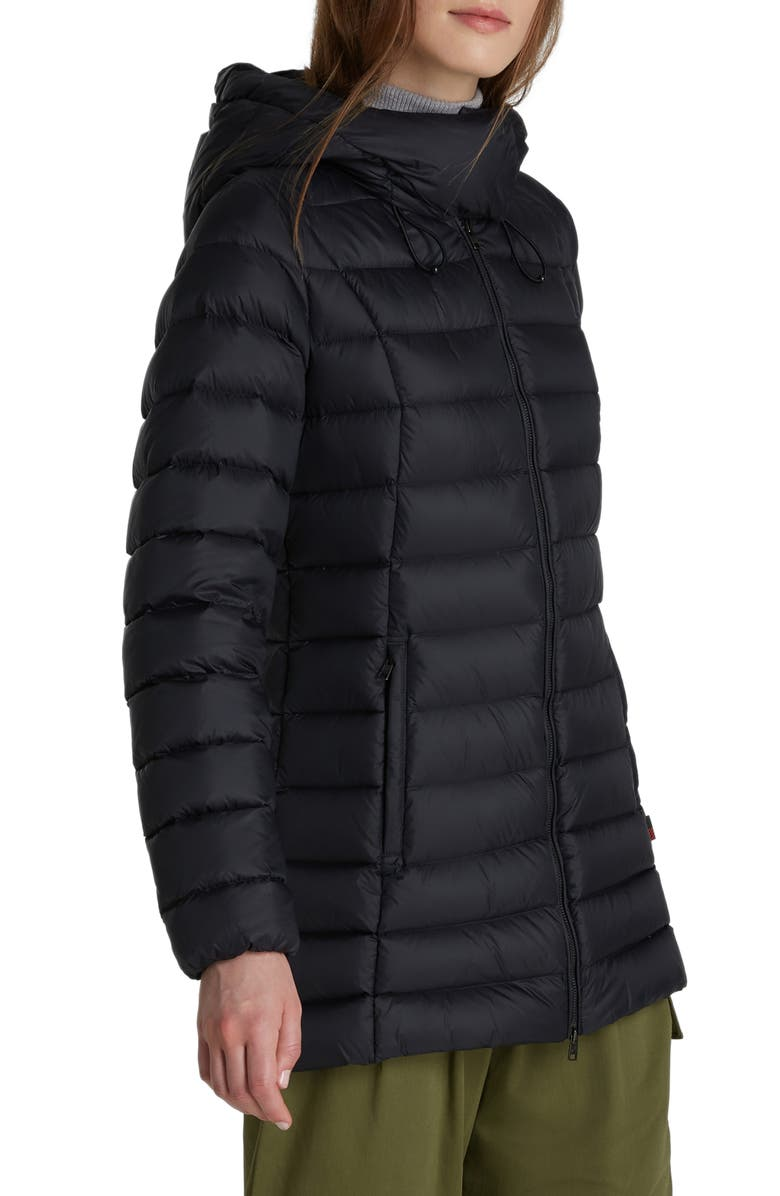 WOOLRICH Hooded Puffer Coat, Main, color, BLACK