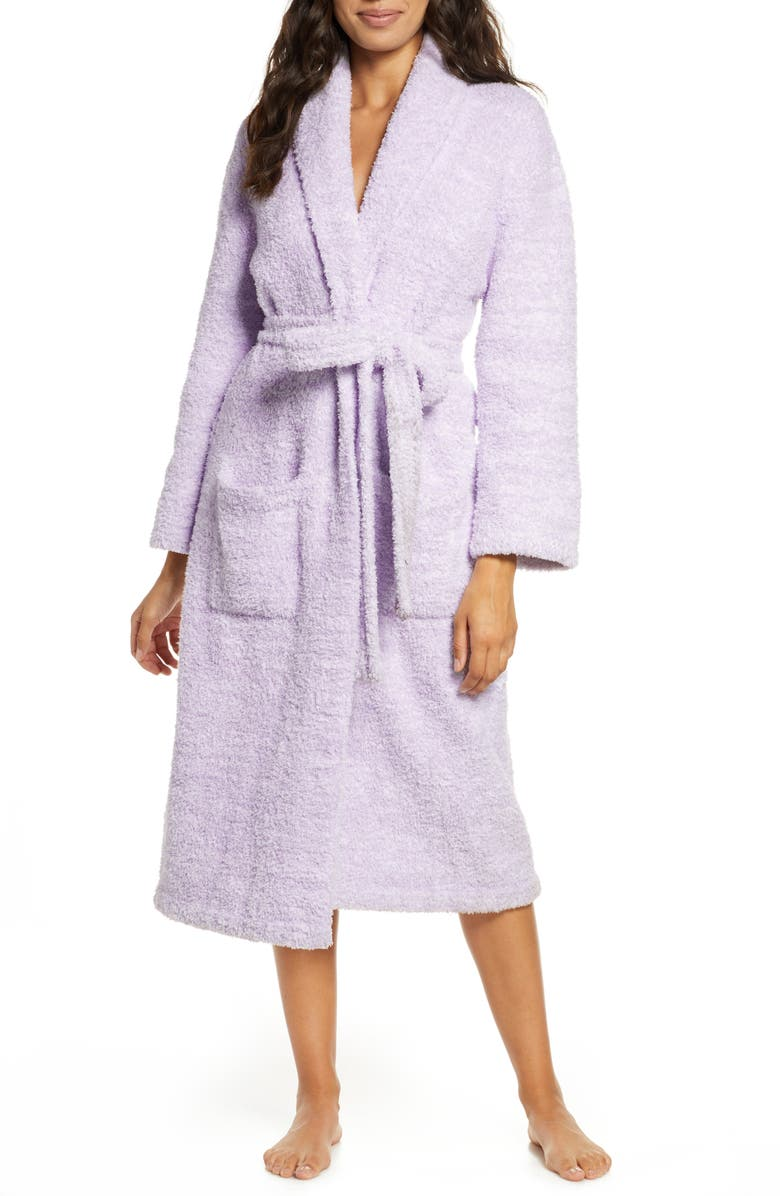 BAREFOOT DREAMS<SUP>®</SUP> CozyChic<sup>®</sup> Unisex Robe, Main, color, HE LAVENDER/WHITE