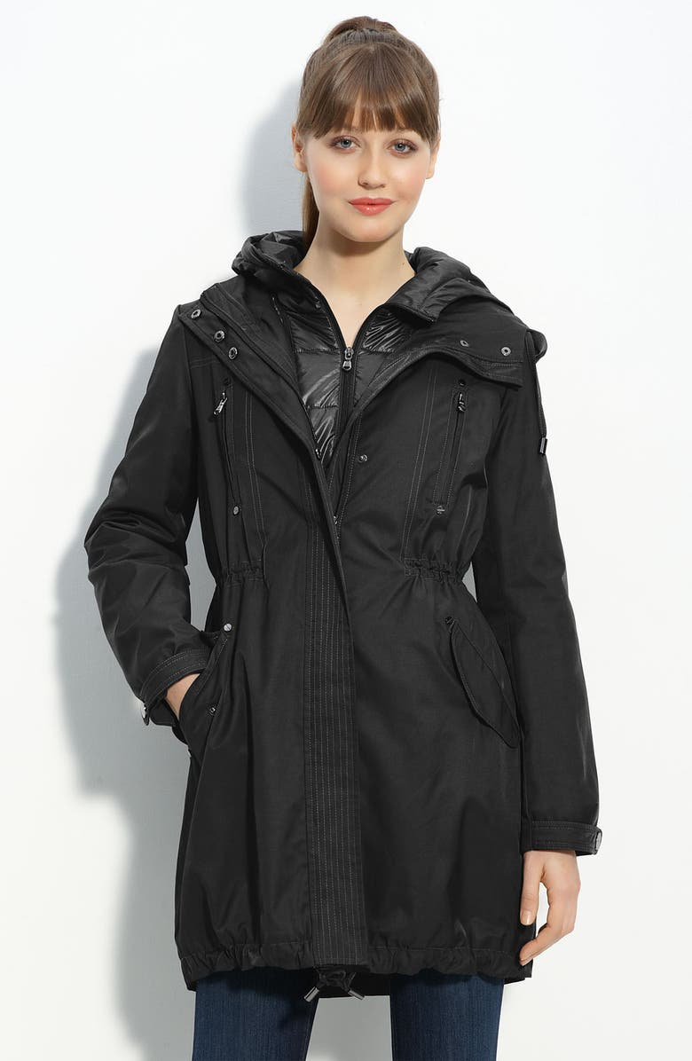 KENNETH COLE NEW YORK 'Oxford' Anorak with Quilted Inset, Main, color, 001
