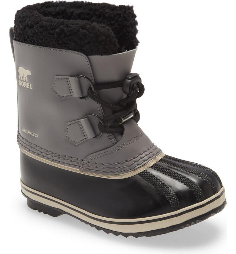 SOREL Yoot Pac Waterproof Insulated Snow Boot, Main, color, QUARRY/ BLACK