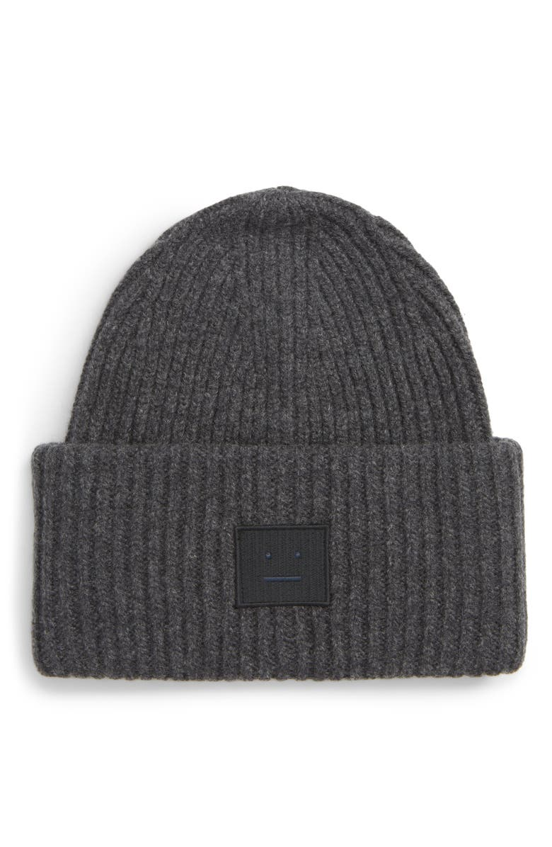 ACNE STUDIOS Pansy Rib Knit Beanie, Main, color, 021