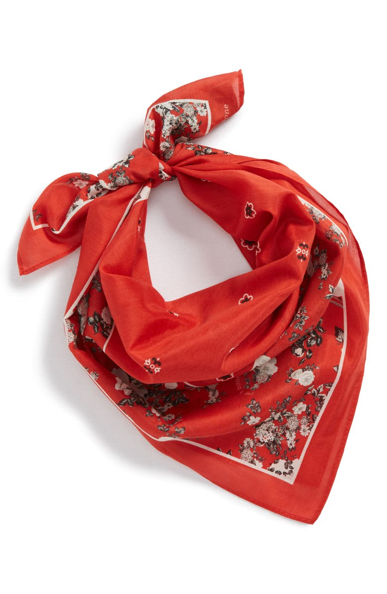 RAG & BONE Garden Floral Bandana, Main, color, 609