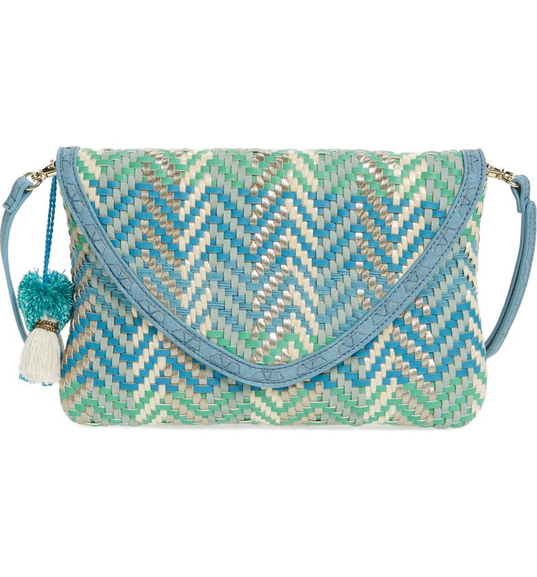 STEVEN BY STEVE MADDEN Woven Crossbody Bag, Main, color, 400