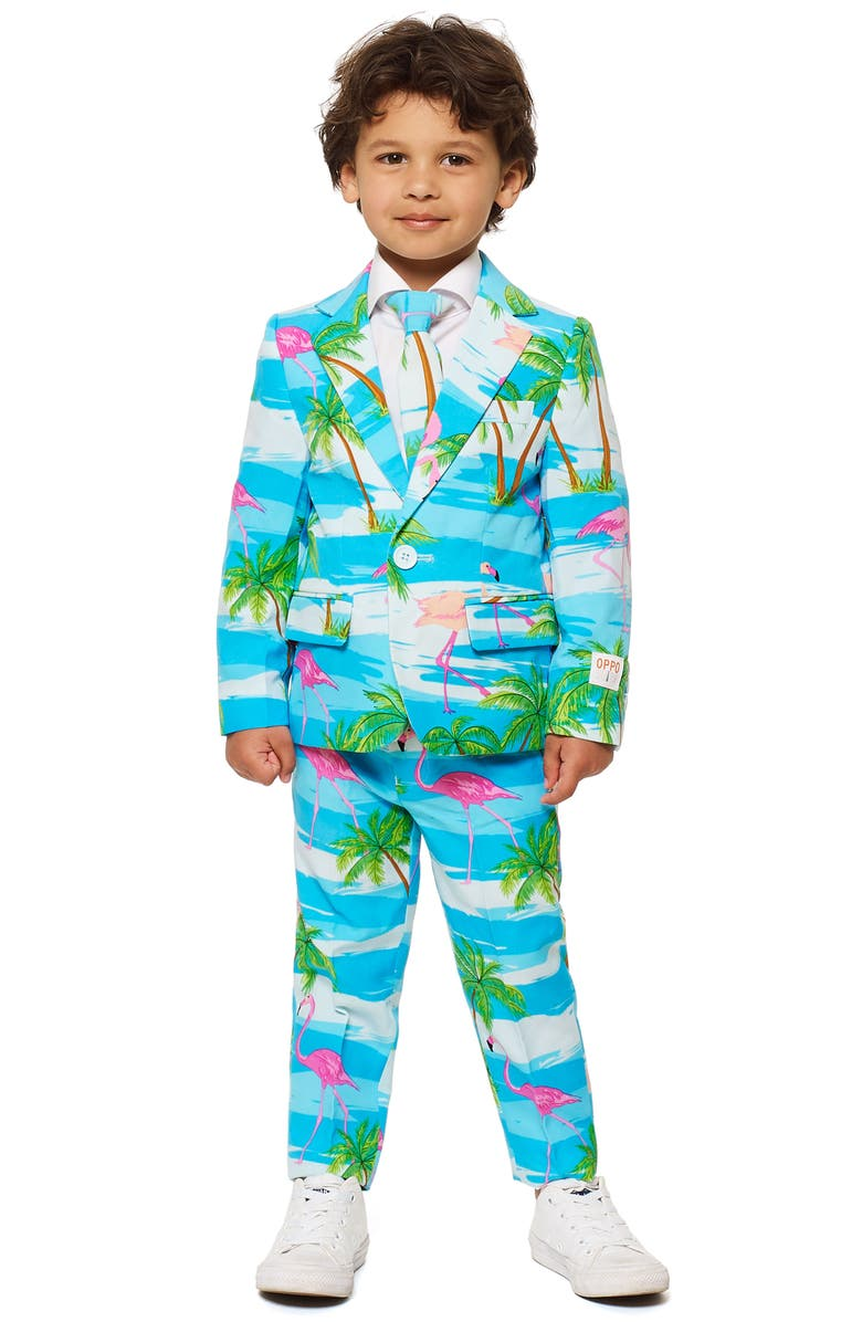 OPPOSUITS Flaminguy Two-Piece Suit with Tie, Main, color, Blue