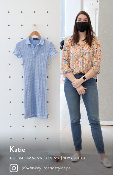 Cable Short Sleeve Sweater Dress, sales video thumbnail