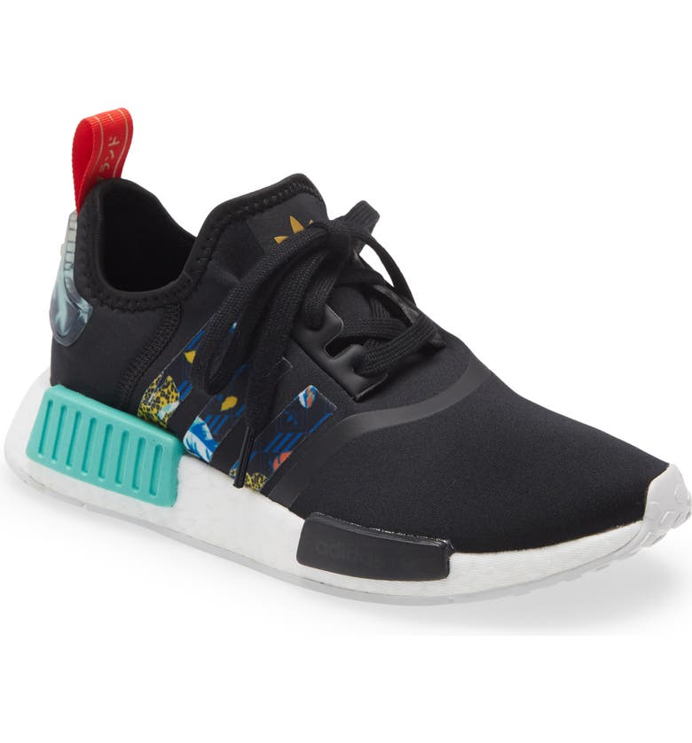 ADIDAS NMD_R1 Sneaker, Main, color, CORE BLACK/ MINT