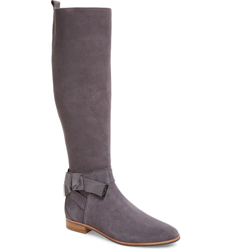 TED BAKER LONDON Sintial Knee High Boot, Main, color, CHARCOAL