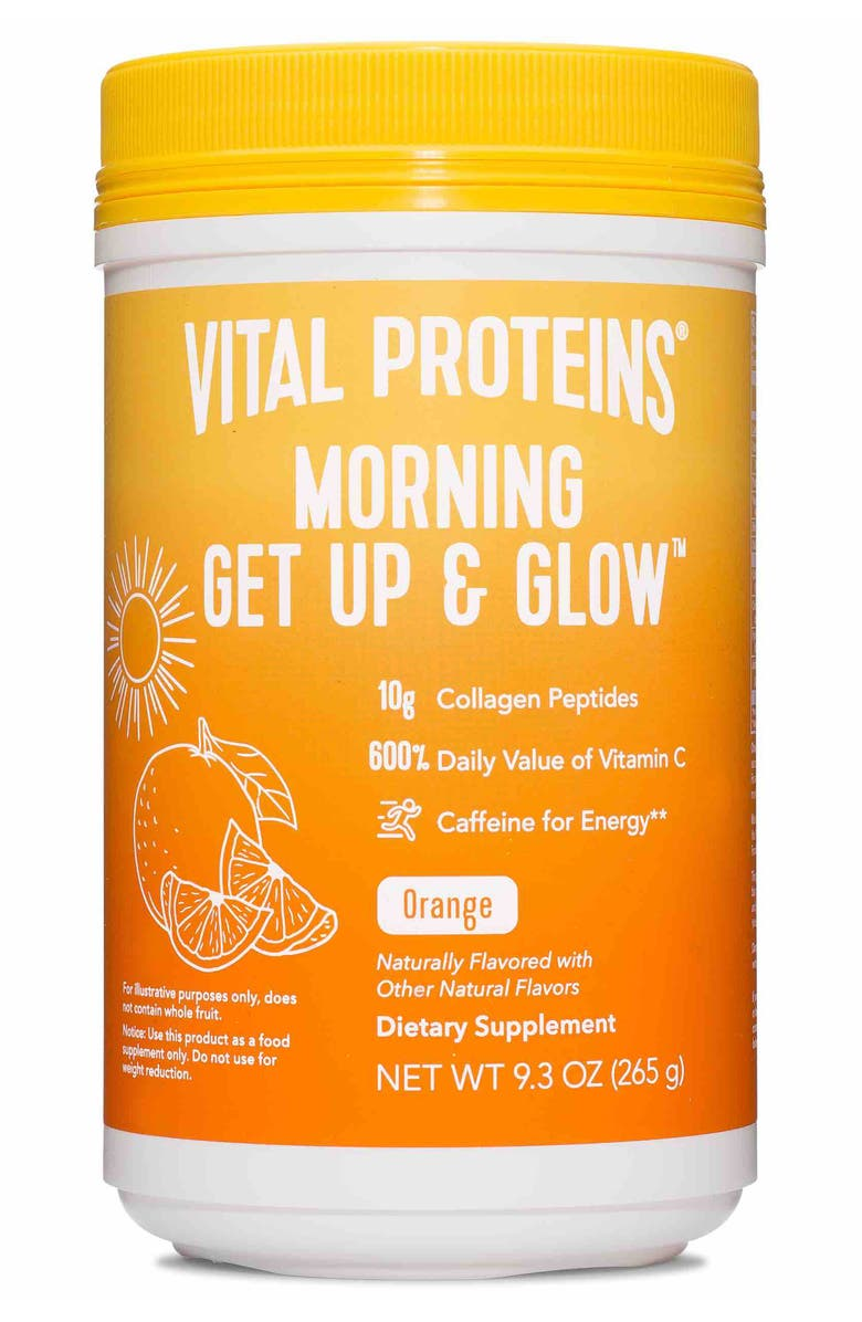VITAL PROTEINS Morning Get Up & Glow Collagen Dietary Supplement Powder, Main, color, No Color