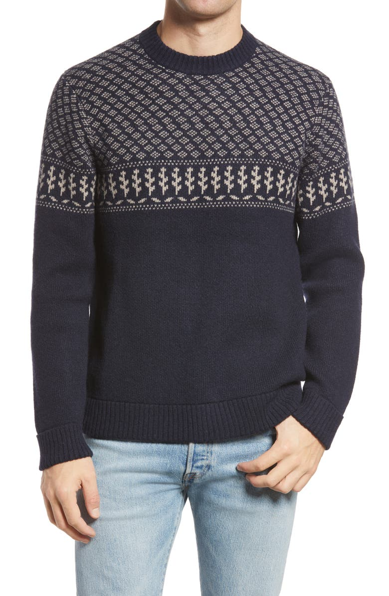 PATAGONIA Recycled Wool Blend Sweater, Main, color, FARM BLEND NEW NAVY