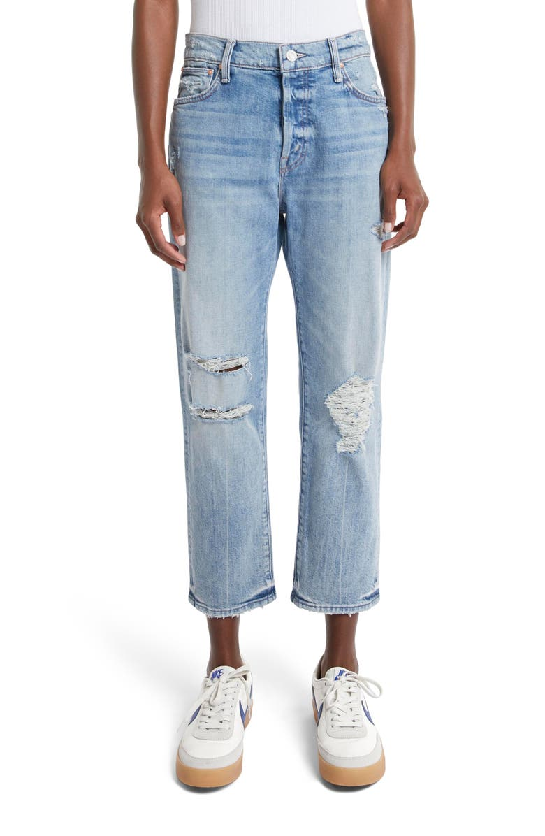 MOTHER The Scrapper High Rise Ankle Crop Jeans, Main, color, WICKED WILD CALLING