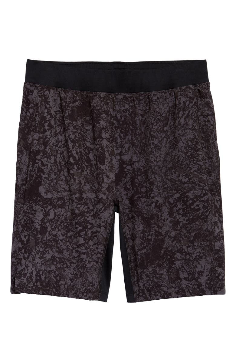 ZELLA Core Stretch Woven Shorts, Main, color, DARK GREY MARBLE PRINT