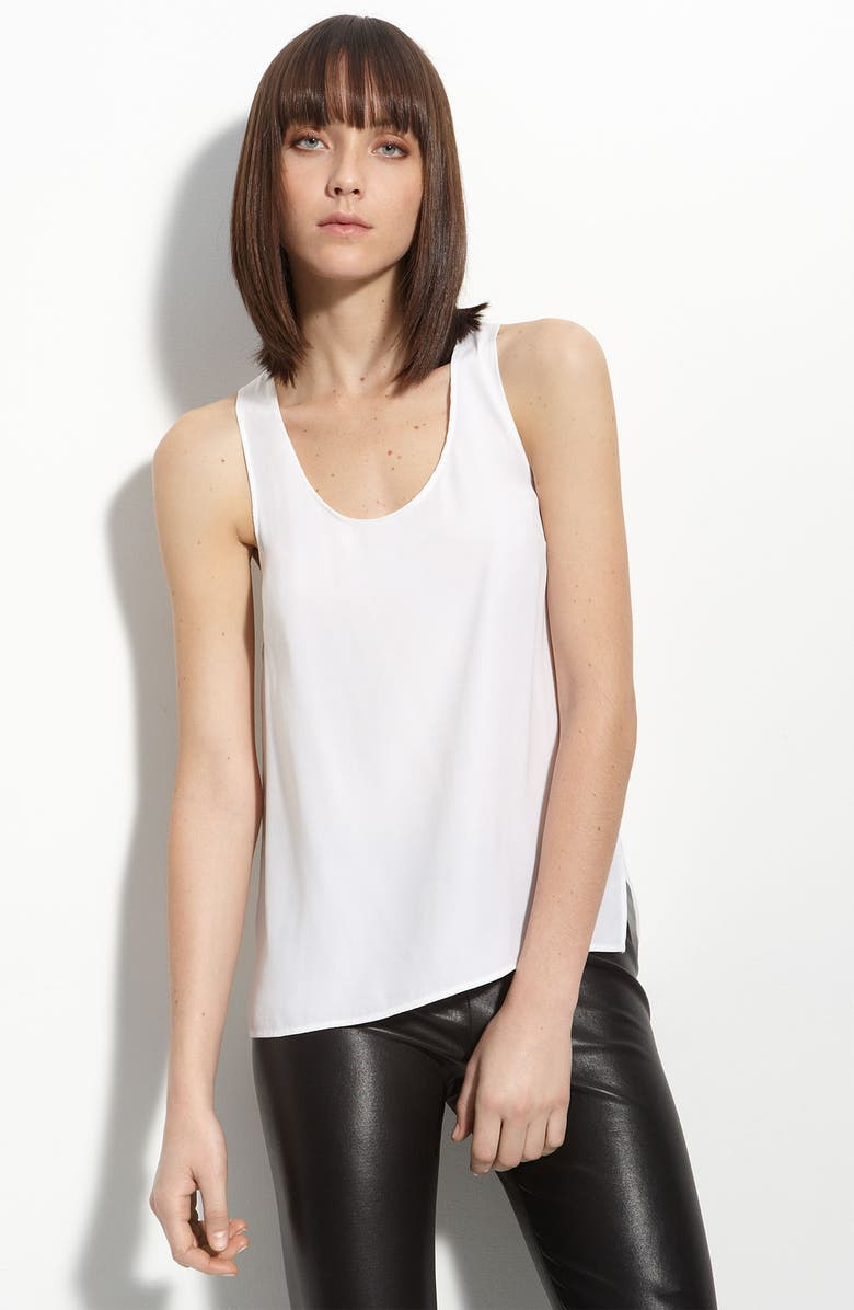 VINCE Washed Silk Tank, Main, color, 100