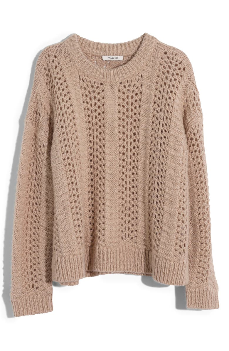 MADEWELL Windemere Pointelle Pullover Sweater, Main, color, 250