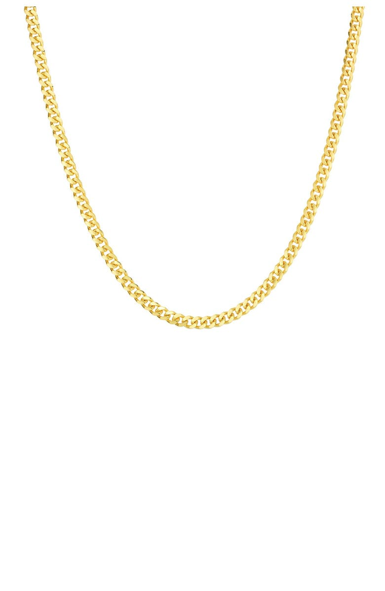SPHERA MILANO 14K Yellow Gold Plated Sterling Silver Wheat Chain Necklace, Main, color, YELLOW GOLD