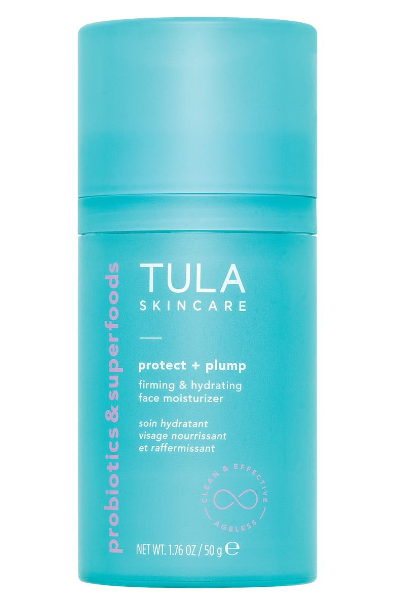 TULA SKINCARE Protect + Plump Firming & Hydrating Face Moisturizer, Main, color, NO COLOR
