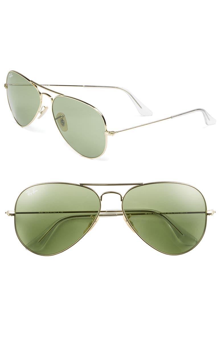 RAY-BAN 'Legend Collection' 58mm Aviator Sunglasses, Main, color, 300