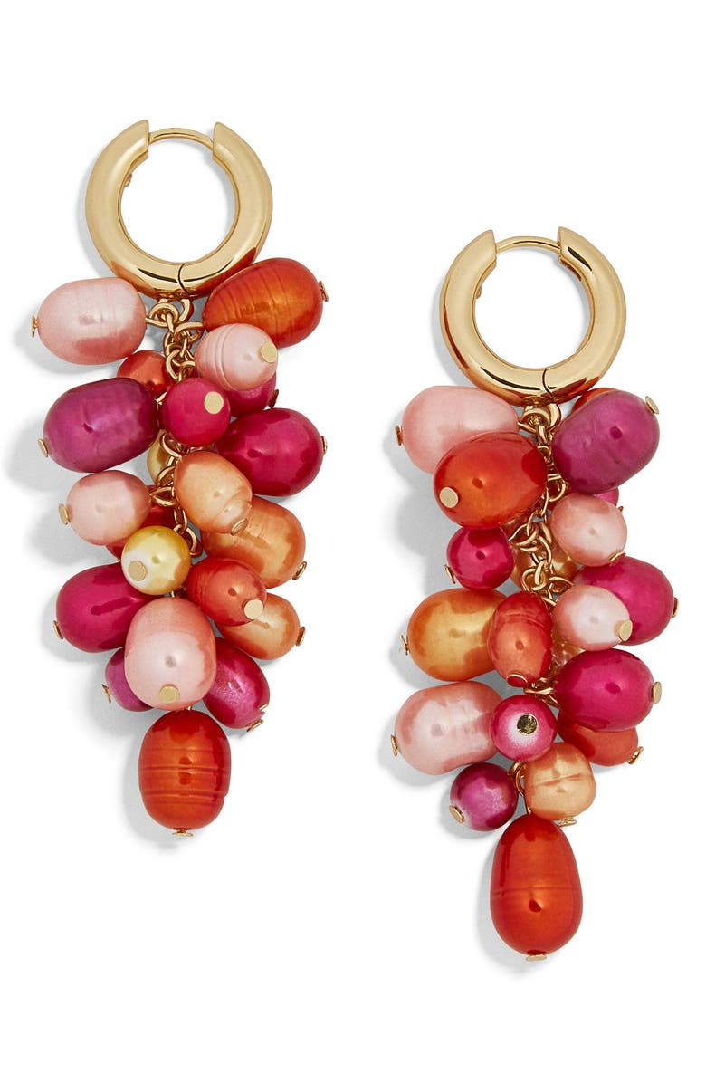 BAUBLEBAR Freshwater Pearl & Imitation Pearl Cluster Drop Earrings, Main, color, 600