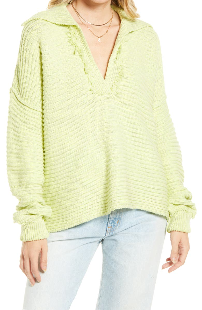 FREE PEOPLE Marlie Pullover, Main, color, ACID LIME
