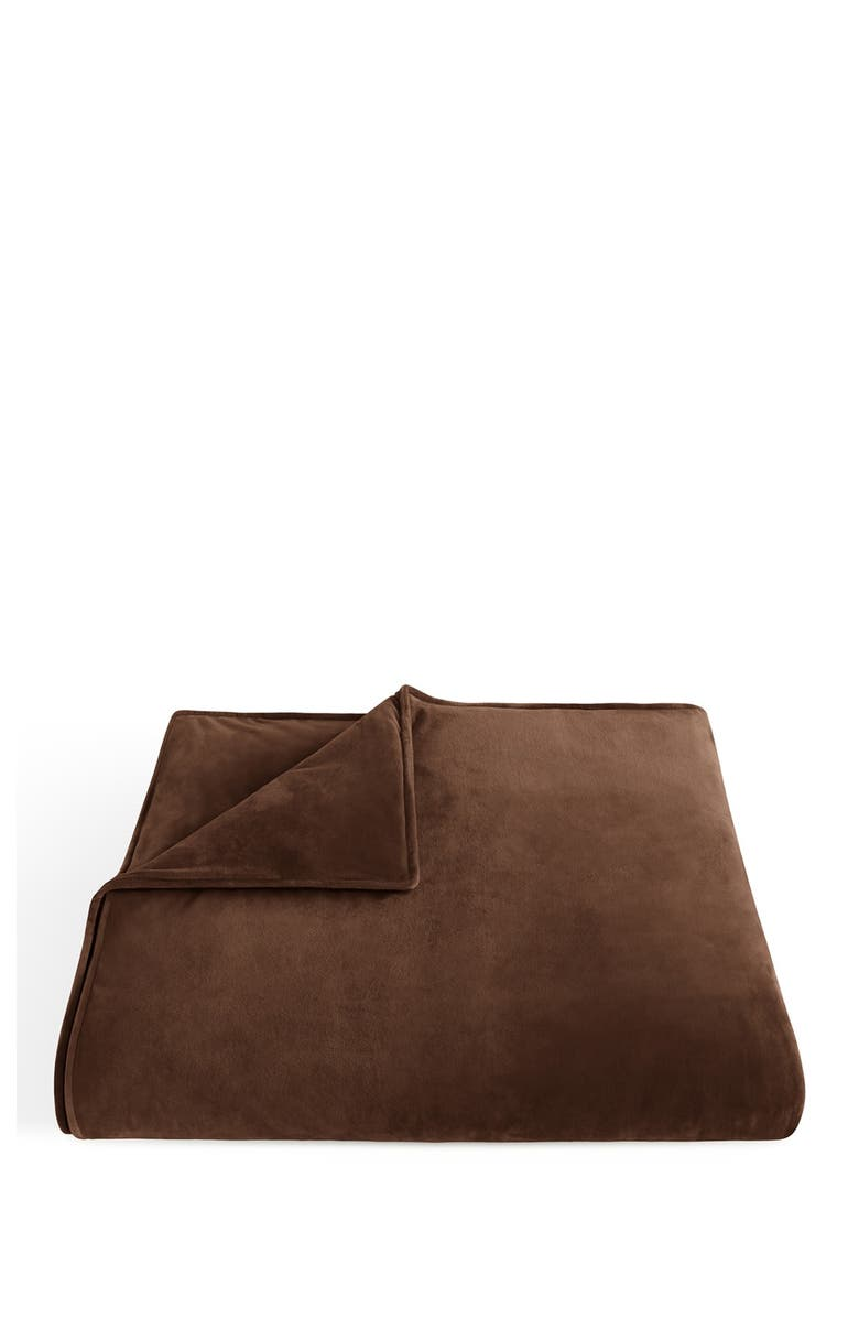 IENJOY HOME Home Spun Weighted 12lbs Blanket - Chocolate, Main, color, CHOCOLATE