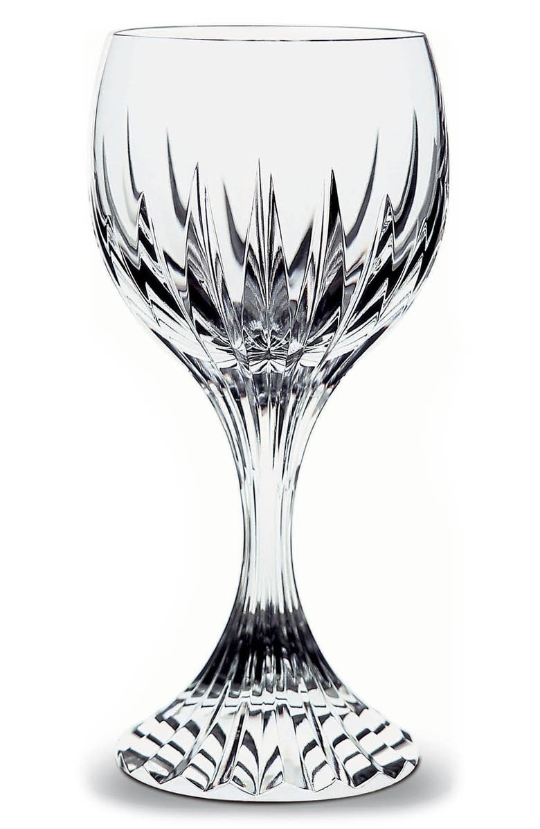 BACCARAT Massena Lead Crystal Red Wine Glass, Main, color, CLEAR