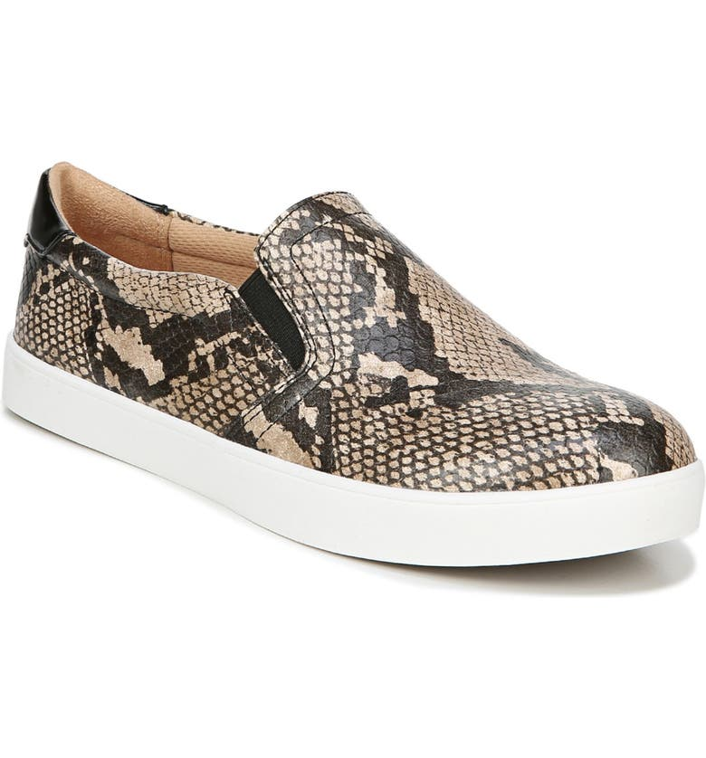 DR. SCHOLL'S Madison Slip-On Sneaker, Main, color, SNAKE PRINT FAUX LEATHER