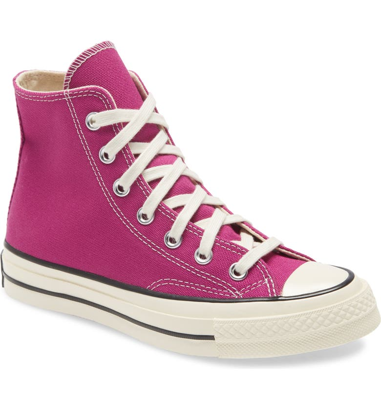 CONVERSE Chuck Taylor<sup>®</sup> All Star<sup>®</sup> 70 High Top Sneaker, Main, color, CACTUS FLOWER/ BLACK/ EGRET