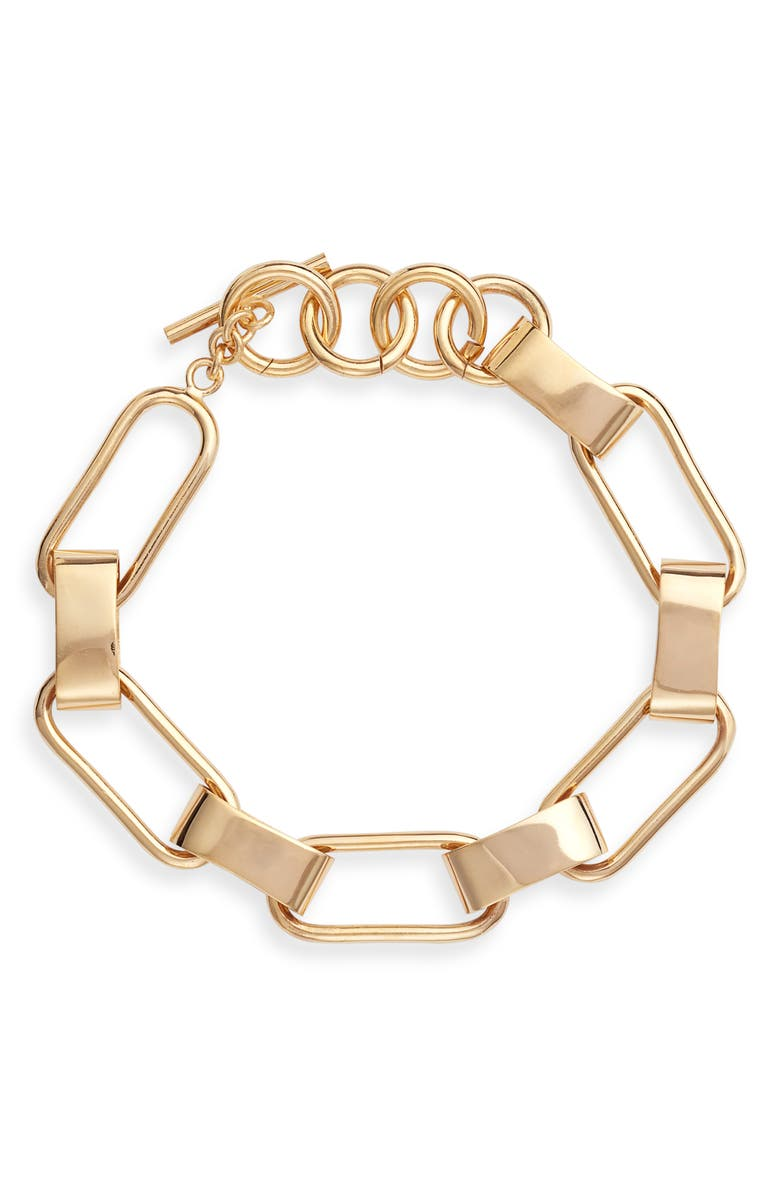 SOKO Capsule Link Bracelet, Main, color, Gold