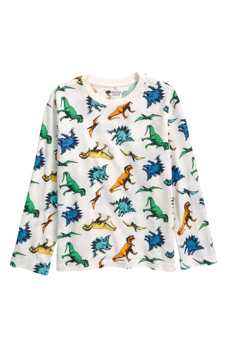TUCKER + TATE Graphic T-Shirt, Main, color, IVORY EGRET POP DINOS